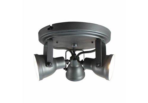LABEL51 LED Spot Max 3-lichts Burned Steel