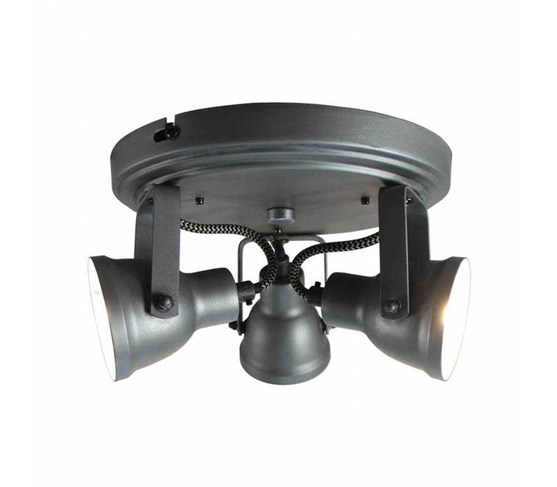 LED Spot Max 3-lichts Burned Steel
