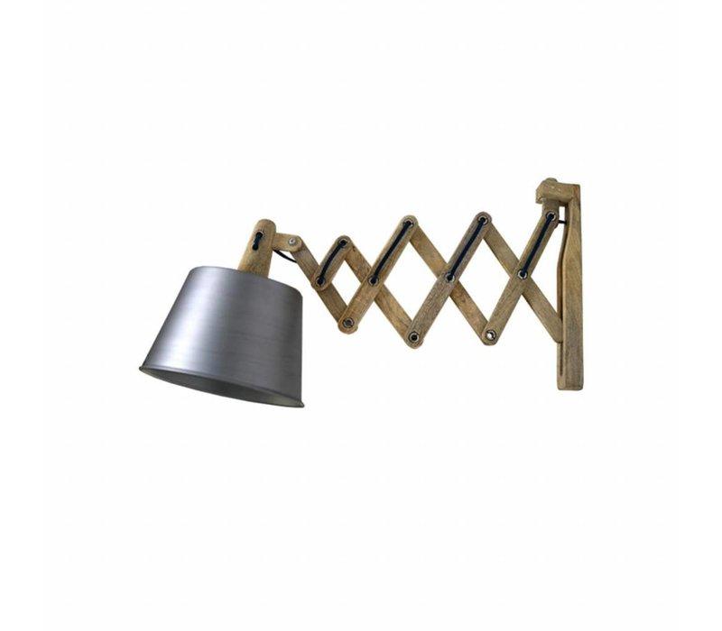 Wandlamp Harmonica Antiek Grijs