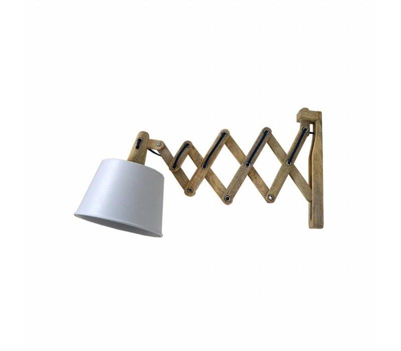 Wandlamp Harmonica Mat Wit