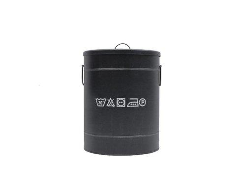 LABEL51 Wasmand Zwart Metaal S