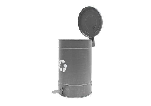 LABEL51 Pedaalemmer grijs metaal XL