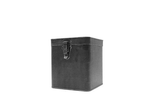 LABEL51 Opbergbox Zwart Metaal L