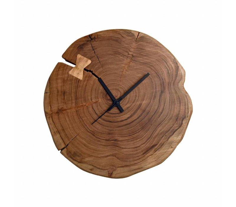 Klok Wood 35x35x5 cm