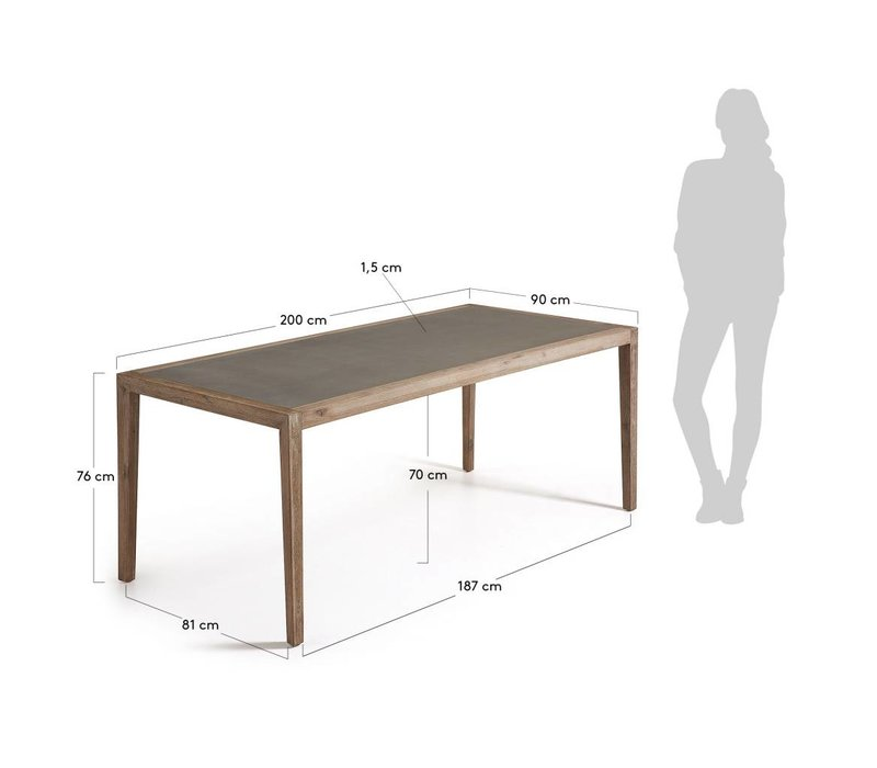 CORVETTE Eettafel 160x90 cm