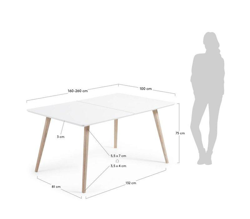 QUATRE Uitschuifbare Eettafel 160(260)x90
