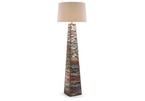 LaForma YGOO Vloerlamp Tropisch houten standaard wit