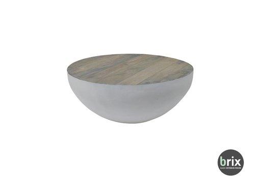 Brix John Bowl 80cm Salontafel - Wit