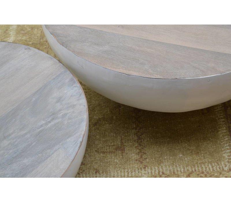John Bowl 80cm Salontafel - Wit