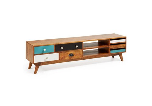 LaForma COLLIN TV Meubel Hout Multicolor