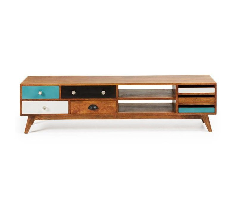 COLLIN TV Meubel Hout Multicolor