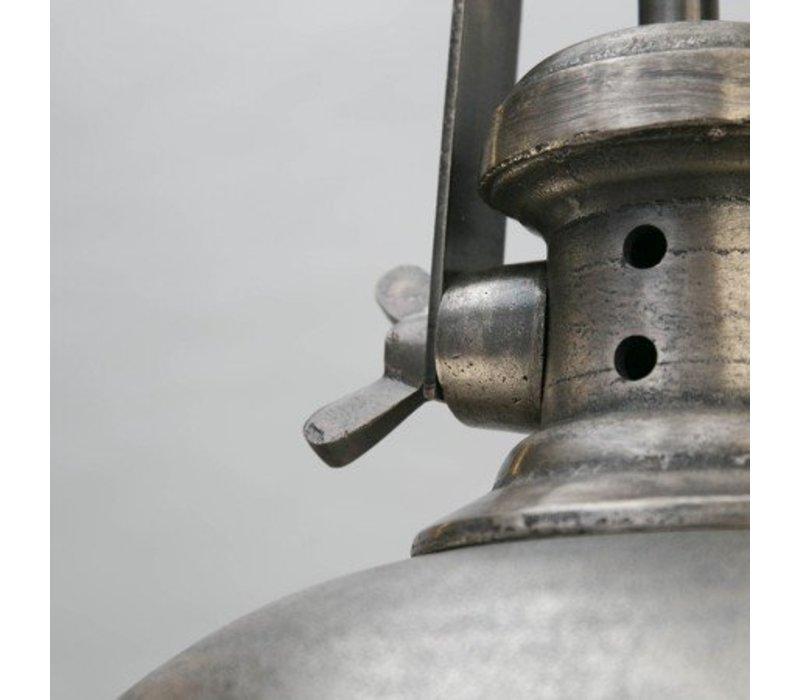 Hanglamp Madera Antiek Raw Nikkel