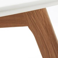 BRICK Coffee table Ã'Â¿90 leg wood natural top glass cle