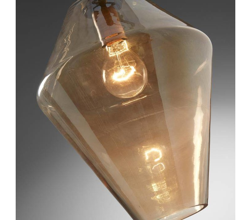 CONVEX Hanglamp Glas Amber