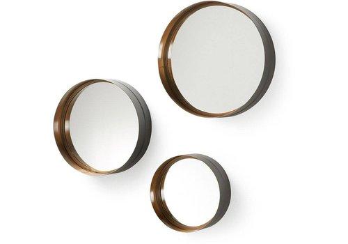 LaForma WILSON set van 3 spiegels - goud