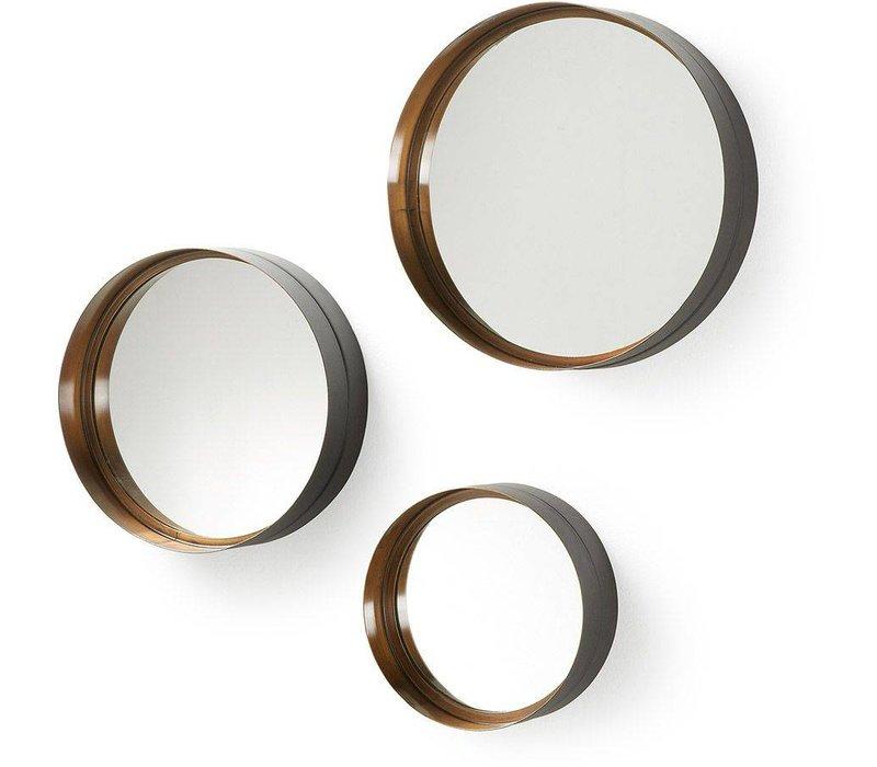 WILSON set van 3 spiegels - goud