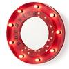 LaForma BENSON Spiegel metaal met lampjes - rood