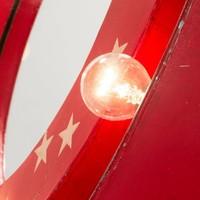 BENSON Spiegel metaal met lampjes - rood