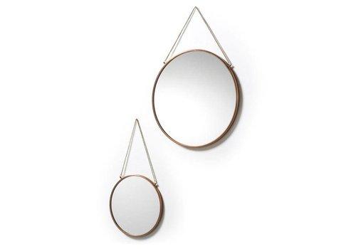LaForma NIKO Set van 2 spiegels metaal - koper