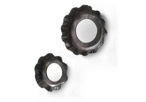 LaForma KARLO Set van 2 spiegels metaal - zink