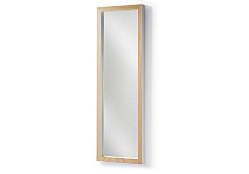 Spiegel Met Lijst : Spiegel met teakhouten lijst en plankjes u de loods meubelen
