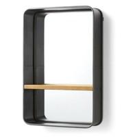 CELLINI Spiegel met houten plank