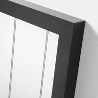 CARLS spiegel lijst van hout - zwart