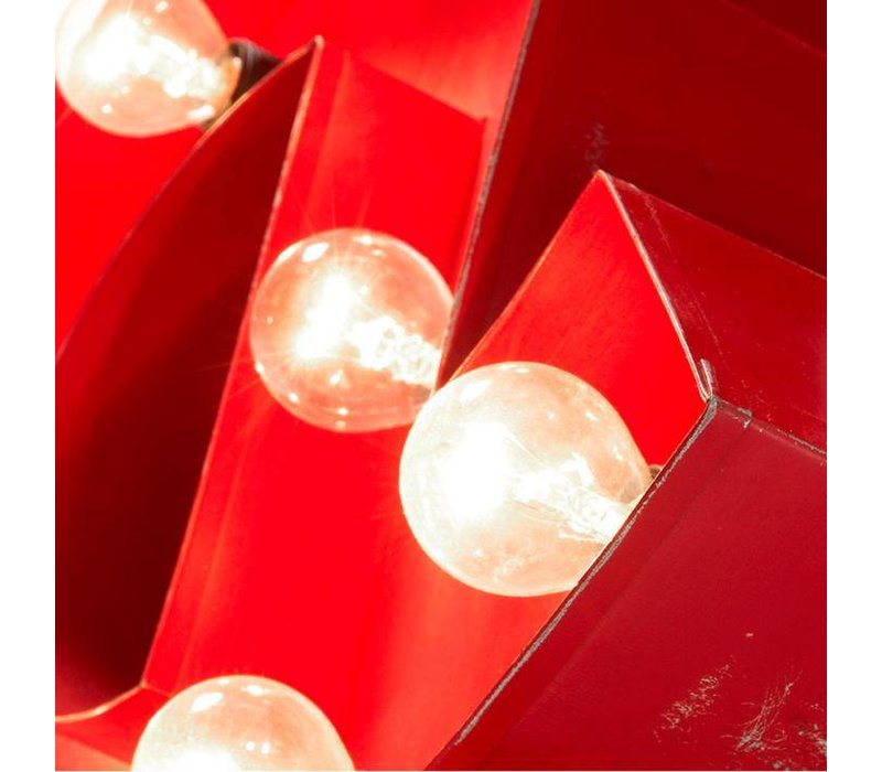 BLOCK Tafellamp Metaal Rood