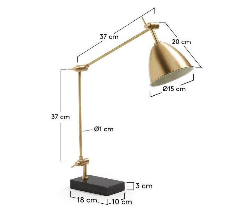 BINDY Tafellamp Metaal Goud
