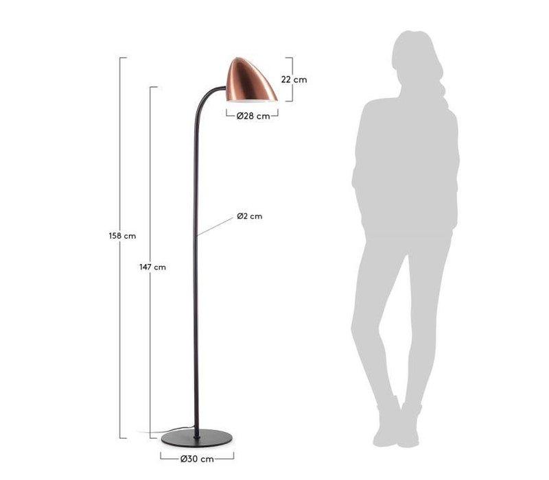 BALDI Vloerlamp Metaal Zwart
