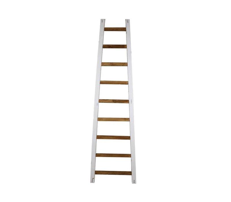 Decoratieve ladder Tangga - 150 cm - naturel/wit - teak