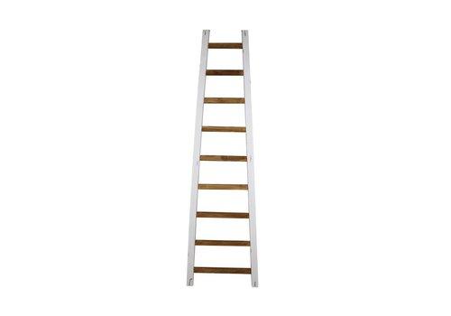HSM Decoratieve ladder Tangga - 195 cm - naturel/wit - teak