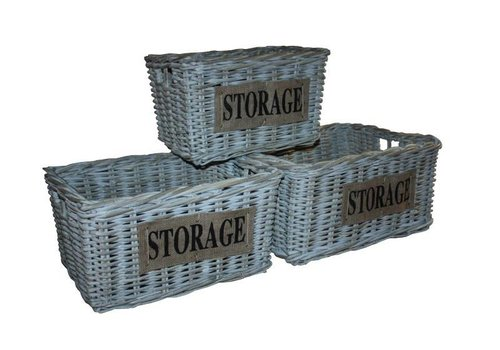 HSM Collection Mand Storage - white wash - koboo - s/3