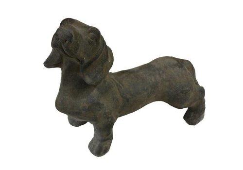 HSM Collection Beeld hond Joep XL - teckel/joep - caementum