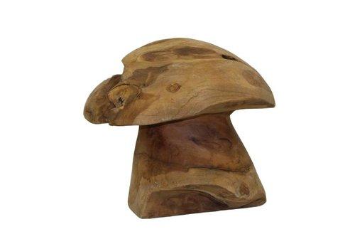 HSM Decoratieve paddenstoel small - old wood - oud teak