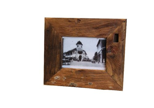 HSM Collection Fotolijst antiek small - old wood - oud teak