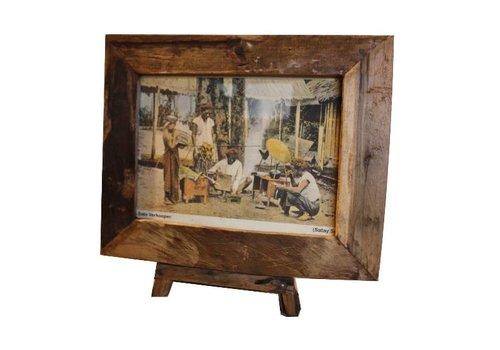 HSM Collection Fotolijst antiek large - old wood - oud teak