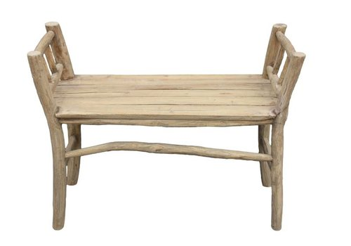 HSM Collection Pank bench - antiek - teak