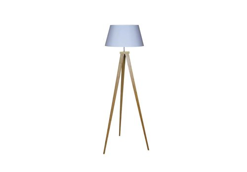 HSM Collection Staande lamp (excl. kap) - naturel - bamboe/stof