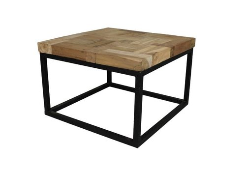 HSM Collection Salontafel Mozaiek - 60 cm - blank - oud teak