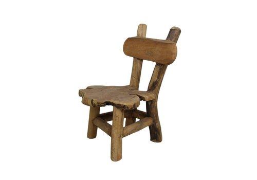 HSM Collection Kinderstoel Flinstone - old wood - teak