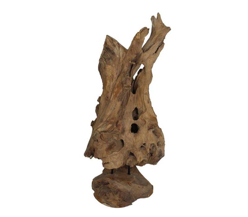 Beeld Erosi Hias small - old wood - oud hout