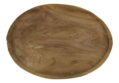 HSM Collection Plate - blank teak