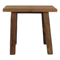 Bankje oud hout - 50 cm - blank - teak