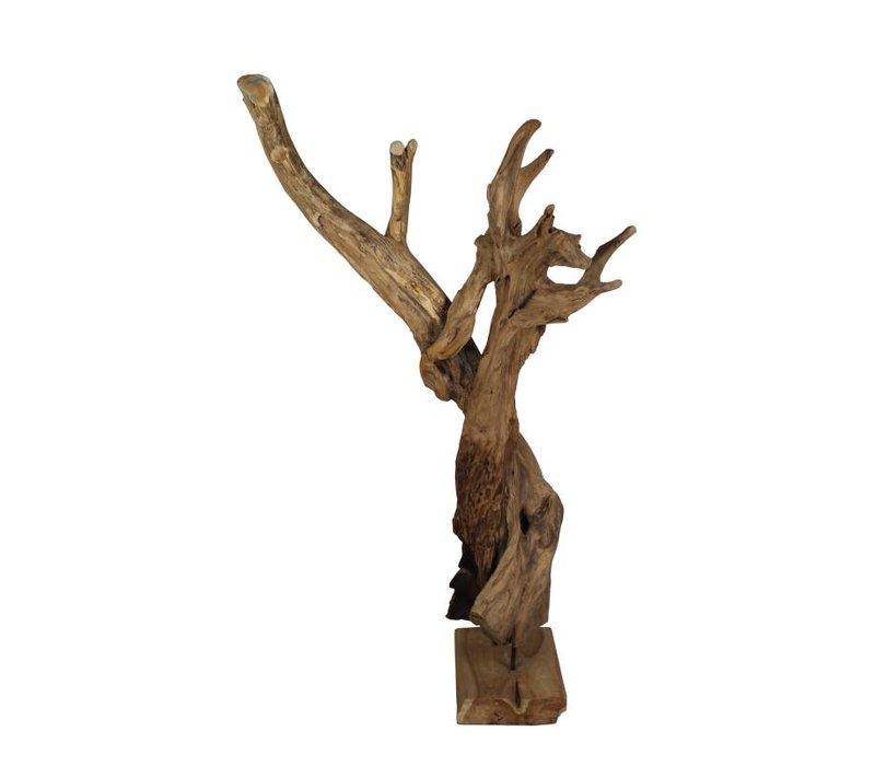 Decoratie Erosi hias - blank - oud hout