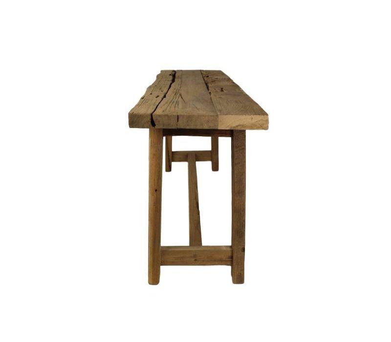 Bankje Lawas - 100 cm - blank - teak