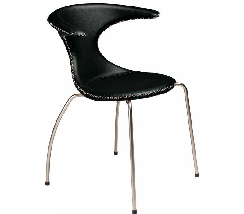 Flair stoel zwart / mat