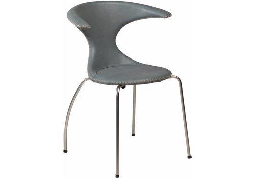 DAN-FORM Flair stoel grijs leer met matte poten