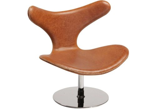 DAN-FORM Dolphin lounge chair bruin