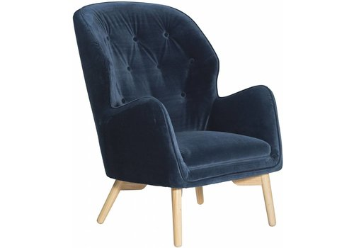 DAN-FORM Mantle lounge chair blauw